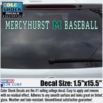 Decal - Mercyhurst M Baseball
