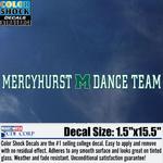 Decal - Mercyhurst M Dance Team