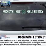 Decal - Mercyhurst M Field Hockey