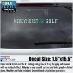Decal - Mercyhurst M Golf