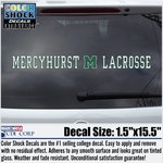 Decal - Mercyhurst M LaCrosse