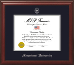 Diploma Frame - Cherry Satin Silver Embossed