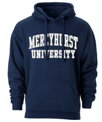 Hoodie - Arched University White w/Grey Outline