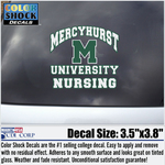 Decal - Mercyhurst Arched Over M University Nursing