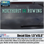 Decal - Mercyhurst M Rowing
