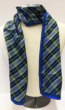 Scarf - Custom Silk Tartan Plaid 11x72