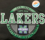 Long Sleeve T - Circle Lakers Shield w/Hurst on Sleeve