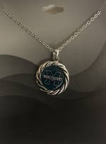 Necklace - Block M Silver