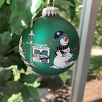 Ornament - Snowman Mercyhurst Flag Wraparound