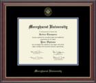 Diploma Frame - Studio Black Mat/Royal Blue Border Gold Trim