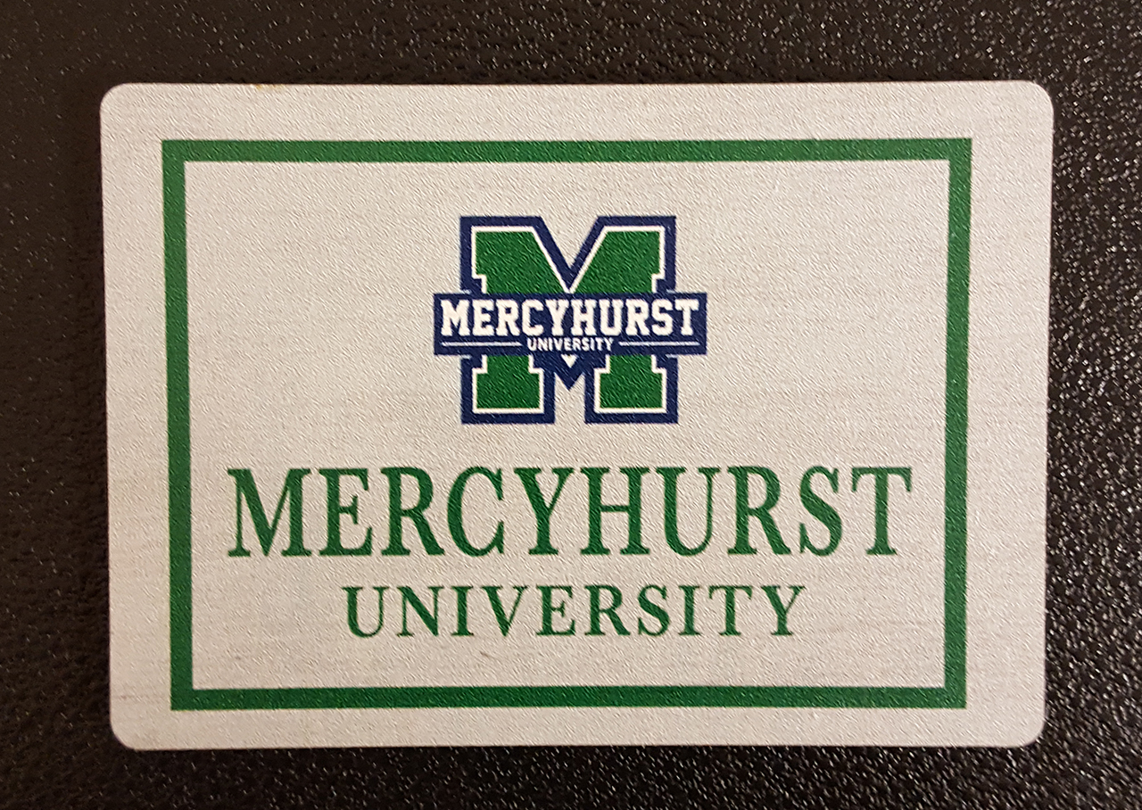 M Logo Wooden Magnet 25 X 35 Mercyhurst University Bookstore